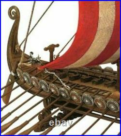 Historic Drekar Dragon Viking Sailboat Museum Replica Longship Ship Assembled