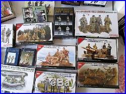 Huge Lot 1/35 Soldier Model Kits Resin Tristar Nemrod Hasegawa Dragon German US
