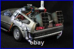 Kids Logic Back To The Future LED Light Time Car Resin PVC Model Gift In Stock