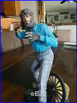 KitKong Model Mansion Wolf Man Jeff Yagher 1/4 Scale Resin Model Kit Painted