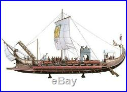 LAST ONE. Andrea 54mm Roman Bireme Galley MODEL KIT. RESIN & METAL. FREE SHIPPING