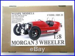 MORGAN 3 WHEELER 18 big scale car resin model Wespe Models resin kit SBS23