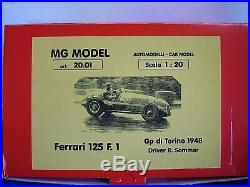 Mg Model Plus 20.01 1948 Ferrari 125 F1 120th Scale Resin & Metal Kit
