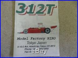 Model Factory Hiro Ferrari 312T White Metal and Resin Kit