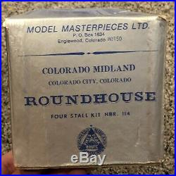 Model Masterpieces Colorado Midland Roundhouse Four Stall Kit #114 New Old Stock