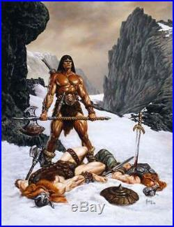 Next Conan Style Barbarian Resin Model Kit Deluxe Base Version