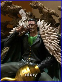 One Piece Sir Crocodile Statue GK Resin Model Kits Sitting version New