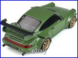 PORSCHE RWB BODY KIT ATLANTA GREEN WithGOLD WHEELS 1/18 MODEL CAR GT SPIRIT GT812