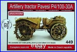 Plus Model 135 Gun Tractor Pavesi P4-100 Model 30A Resin PE Decal Full Kit #449