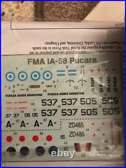 Pucara IA58 1/48 resin kit from Mirage rare and hard to faind