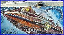 RARE Disney 20,000 Leagues Nautilus Submarine 31 Inch Resin Model Kit