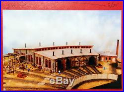 RARE HO Scale Train South River Model Works Hydrocal Stone Roundhouse Kit 160