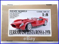SBS31 18 FERRARI 250 TESTA ROSSA -1957 resin kit Wespe Models