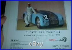 SOFT-LINE 1937 Le MANS BUGATTI 57 RESIN KIT 1/24 MODEL CAR MOUNTAIN