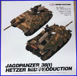 SOL Model 1/16 JAGDPANZER 38(t) HETZER Mid Production 120mm Resin Kit MM175 NEW