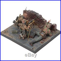 SOL RESIN FACTORY, 1/16 WWII German MG34 Team, cat. No. MM194,120mm
