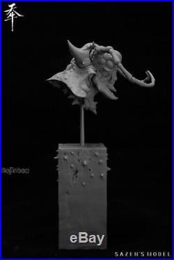 Sazen model longicorn head portrait Unpainted Model Kits High-Q Resin Figurine