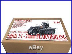SdKfz 7/1 FLAKVIERLING 20mm Wespe Models 116 SCALE resin kit 16008