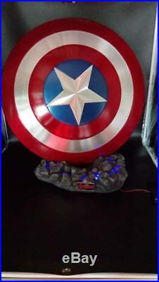 Show. Z StoreCATTOYS Captain America Shield &Thor Hammer Base Resin With Light