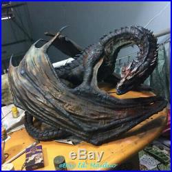 Smaug Dragon Unpainted Resin Kits Model Figure GK 3D Print 12.5cm 1/200