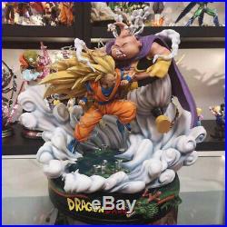 Son Goku VS Fat Buu Statue Resin Model kits GK Dragon Ball Z LY&XX studio
