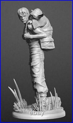 Star Wars Luke & Yoda Custom Resin Model Kit Figure/Statue 1/4 44cm