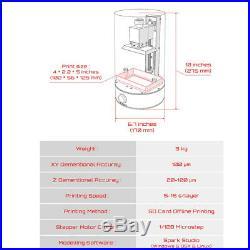 Stereolithography LCD Photosensitive Resin SLA Jewelry Model Kit 3D Printer P1K9