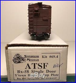 Sunshine Models Custom Built-Up ATSF Bx-58 Box Car Kit# 69.4 HO Scale
