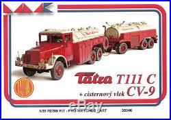 Tatra 111 C with CV. 9 Complete truck & Fuel trailer 1/35 resin MK models MK35046