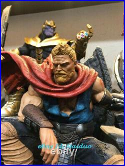 Thor on Throne Resin Kits Statue Figurine Model Collections 1/4 Unpainted
