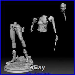 Tomb Raider Jolie Laura 1/6 Figure Statue Resin Model Kits Unpainted 3D Printing