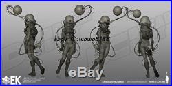 Unpainted 1/8 Resin Entartete Kunst Cosmonaut Figure Model Kit Garage Kit Statue