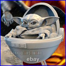 Unpainted 30cm Mandalorian Baby Yoda Figure Model Kit 3D Printed Unassembled
