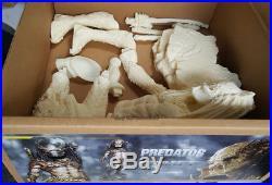 Unpainted 34cm Resin Alien Elder Predator Figures Model Unassembled Garage Kits