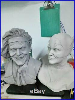 Unpainted and unassembled 1/1 joker bust, resin model kit