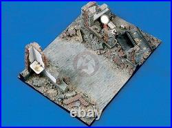 Verlinden 1/35 Downtown Street Section with Wall Ruins WWII Diorama Base 1348