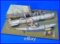 Verlinden 1/35 German Dock with 2 Sunken Mini Submarines Molch & Biber WWII 2483