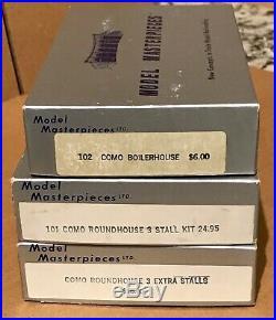 Vintage Rare HOn3 Model Masterpieces Como Roundhouse Kits, 6 stalls, boilerhouse