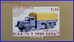 Wespe Models 116 Faun L900 D567 Truck Resin Model Kit #WES16011U