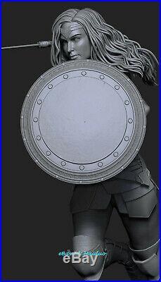Wonder Woman Unpainted Resin Kits Model GK Figurine 3D Print 30cm 1/6