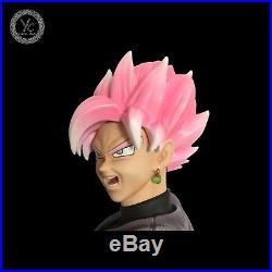 YC Dragonball Z Super Saiyan Rose Goku Black Resin Statue Figure LED Original GK